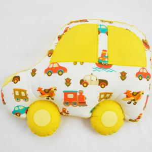 Poduszka samochód żółty