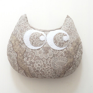 Poduszka sowa, maskotka
