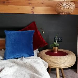 Poduszka welurowa, gładka ceglasta czerwień