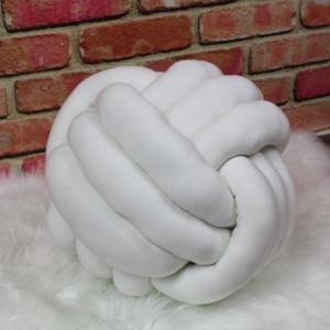 Poduszka węzeł biała