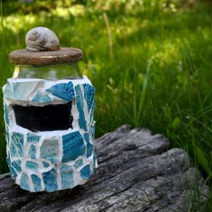 Pojemniki dekoracyjne niebieski - z recyclingu
