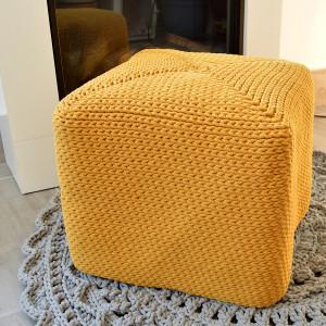 Pokrowiec na puf kubik, kwadratowy
