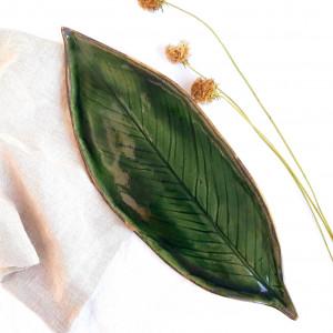 Półmisek zielony liść