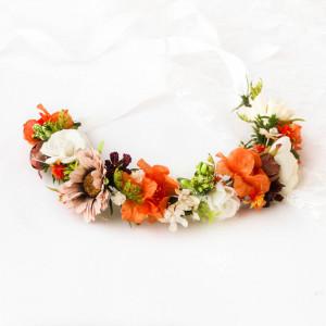 Półwianek ślubny, komunijny wianek jesienny 4