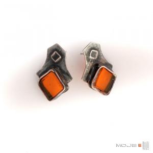 Pomarańczowe romby - kolczyki