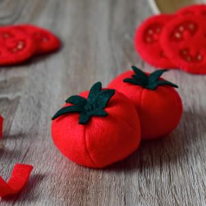 Pomidor z filcu / Jedzenie z filcu