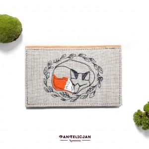 portfel - śpiący lis
