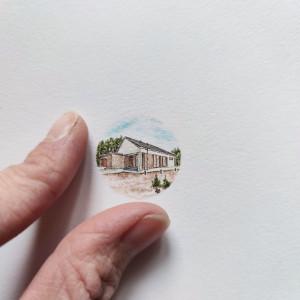 Portret domu, miniatura, prezent na paprapetówę