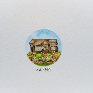 Portret domu, miniatura, prezent na urodziny