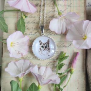 Portret kota, personalizowane, srebro