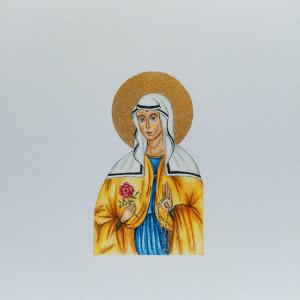 Portret patrona w stylu Ikony, bierzmowanie