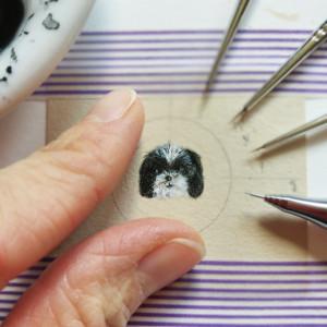 Portret psa, personalizowane, miniatura