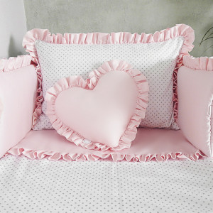 Pościel do łóżeczka dots + ochraniacz 3el