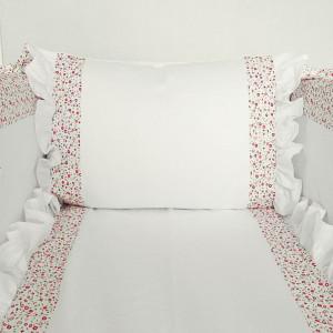 Pościel do łóżeczka z falbanami+ ochraniacz MG