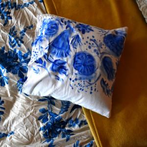 Poszewka dekoracyjna ,,Blue'' Handmade