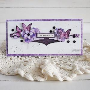 Pozytywna kartka - fioletowa, 825