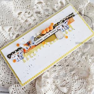 Pozytywna kartka - pomarańczowa, 827