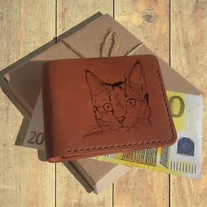 Prezent dla właściciela kota Portfel z grawerem
