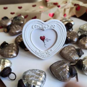 Prezent na Walentynki, serce ręcznie malowane