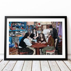 Przyjaciele oryginalny obraz akrylowy