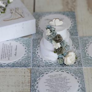 Pudełko box ślub - romantyczny niebiekie