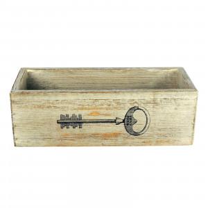 Pudełko drewniane z kluczem. Pojemnik na klucze.