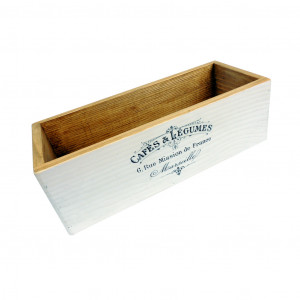 Pudełko drewniane z napisem. Organizer drewniany..