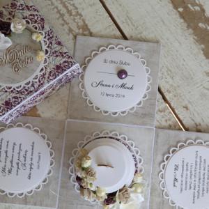 Pudełko exploding box ślub - romantyczny tort 2