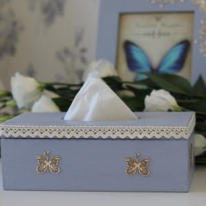 Pudełko na chusteczki - kolekcja Motyl
