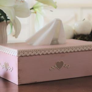 Pudełko na chusteczki - kolekcja Serce
