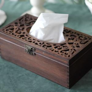 Pudełko na chusteczki Rustic - Rzeźbione