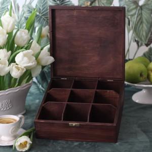 Pudełko na herbatę - 9 komorowe