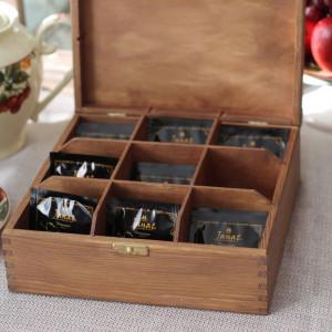 Pudełko na herbatę - 9 komorowe Home