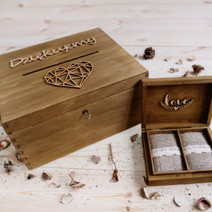 Pudełko na koperty & obrączki