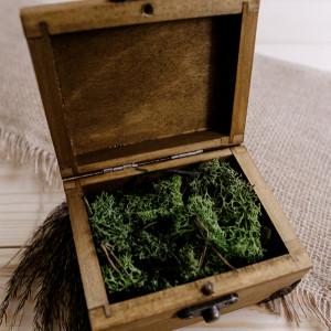Pudełko na obrączki - kuferek