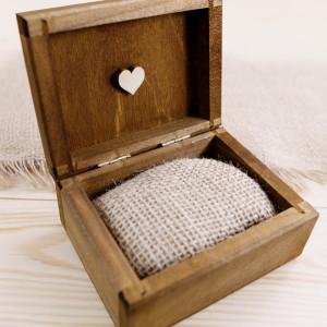 Pudełko na obrączki - serca