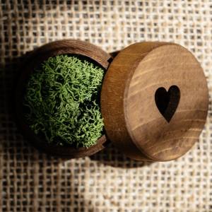 "Pudełko na obrączki ""serce"""