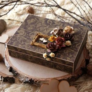 Pudełko na obrączki w stylu rustykalnym