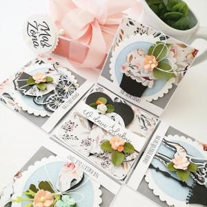 Pudełko na ślub -boho, polne kwiaty- na zamówienie