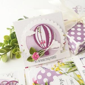 Pudełko na ślub - Fiolety- na zamówienie