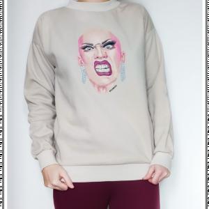 Ręcznie malowana bluza Drag Queen Sasha Velour