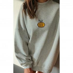Ręcznie malowana bluza oversize pszczółka