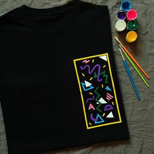 Ręcznie malowana koszulka unisex vintage lata 90te