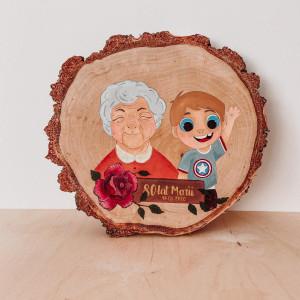 Ręcznie malowane Obrazy Portrety na drewnie 30cm