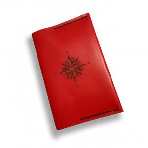 Ręcznie robiona czerwona etui/portfel na paszport