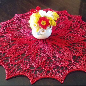 RedRose, serwetka na drutach 42 cm