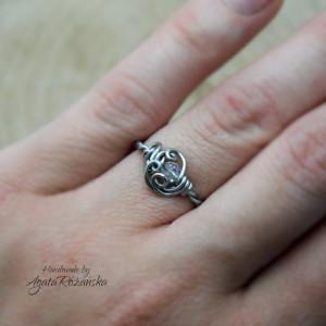 Regulowany pierścionek Swarovski