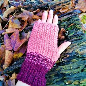 Rękawiczki typu mitenki, bez palców,