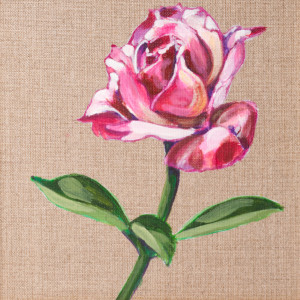 Róża - akryl na płótnie