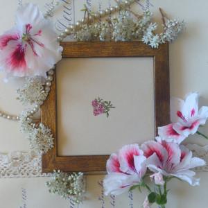 Róża, rosa bonica, miniatura, akwarela, prezent